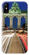 Arcade Du Ciquantenaire At Blue Hour IPhone Case by Barry O Carroll