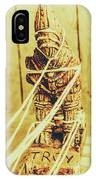 Trojan Horse Wooden Toy Being Pulled By Ropes IPhone Case