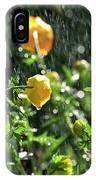 Trollius Europaeus Spring Flowers In The Rain IPhone Case