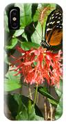 Tropical Butterfly On Flower IPhone Case