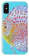 Tropical Discus Fish With Red Spots IPhone Case