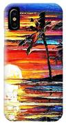 Tropical Fiesta - Palette Knife Oil Painting On Canvas By Leonid Afremov IPhone Case
