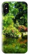 Tropical Garden By Lake IPhone Case