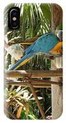 Tropical Parrot IPhone Case