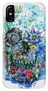 Tropical Skull 2 IPhone Case