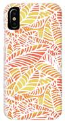 Tropical Sunset Leaves IPhone Case