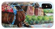 trotter standardbred Horse at the Little Brown Jug IPhone Case