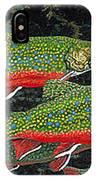 Trout Art Brook Trout Fish Artwork Giclee Wildlife Underwater IPhone Case