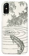 Trout Rising To Dry Fly IPhone Case