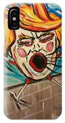 Trumpty Dumpty Falling Off His Imaginary Wall IPhone Case