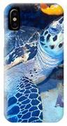 Tucked Away Turtle IPhone Case