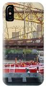 Tug Derek E And Barge On The Calumet River IPhone Case
