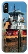 Tug Indian River At Port Canaveral In Florida Usa IPhone Case