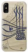 Tughra Of Suleiman The Magnificent IPhone Case