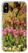 Tulip Bed At Longwood Gardens In Pa IPhone Case