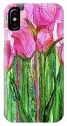 Tulip Bloomies 1 - Pink IPhone Case