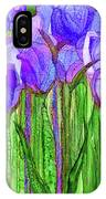 Tulip Bloomies 1 - Purple IPhone Case