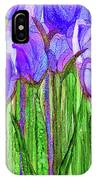 Tulip Bloomies 2 - Purple IPhone Case