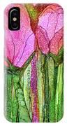 Tulip Bloomies 3 - Pink IPhone Case