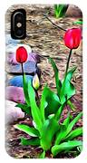 Tulip Rock Garden IPhone Case