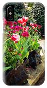 Tulips And Bench IPhone Case