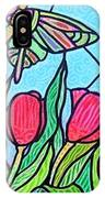 Tulips And Butterflies IPhone Case