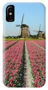 Tulips And Windmills In Holland IPhone Case