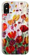 Tulips Flowers Garden Seria IPhone Case