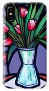 Tulips In Glass Vase IPhone Case