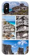 Tulum, Mexico Collage IPhone Case