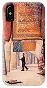 Tunisian Rug Vendor IPhone Case