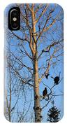 Turkey Vulture Tree IPhone Case