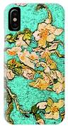 Turquoise Blossom IPhone Case