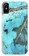 Turquoise Gold Pond 1 IPhone Case
