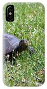 Turtle In The Grass IPhone Case