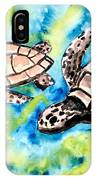 Turtle Love Pair Of Sea Turtles IPhone Case