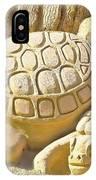 Turtle Sand Castle Sculpture On The Beach 999 IPhone Case
