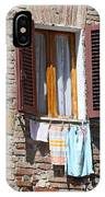 Tuscan Window And Laundry IPhone Case