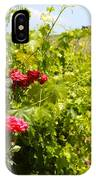 Tuscany Villa And Roses IPhone Case