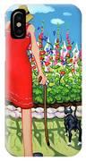 Tuxedo Cat - Edens Garden IPhone Case