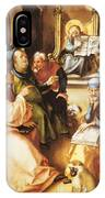 Twelve Year Old Jesus In The Temple 1497 IPhone Case