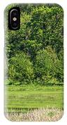 Twin Barns In Spring IPhone Case