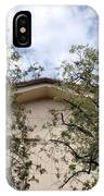 Twin Trees Framing Church Building IPhone Case