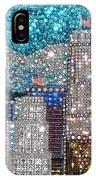 Los Angeles. Rhinestone Mosaic Beadwork Mix IPhone Case