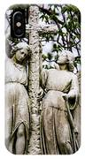 Two Angels With Cross IPhone Case