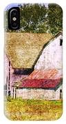 Two Barns And A Silo IPhone Case