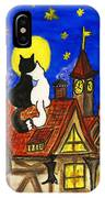 Two Cats On The Roof IPhone Case