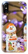 Two Chocolate Snowmen 2 IPhone Case