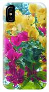 Two Color Flowers IPhone Case