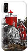 Two Harbors Lighthouse Close-up IPhone Case
